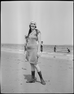 Bathing girls at Revere Beach