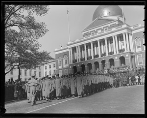 West Point cadets on parade, Boston