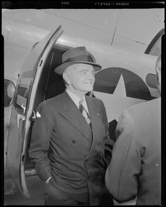 Admiral Halsey, hero of the Pacific War, in Boston