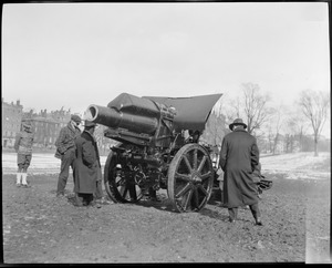 Captured gun on Boston Common