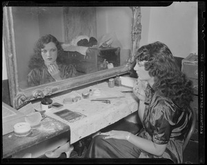 Ann Corio doing her makeup at the Old Howard