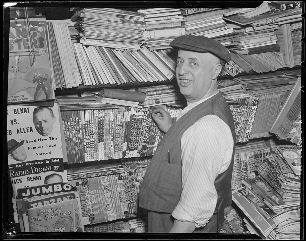 Man at newsstand