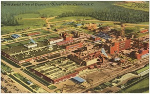 "Aerial view of Dupont's ""Orlon"" Plant, Camden, S. C."