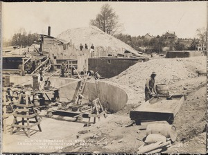 Clinton Sewerage, engine house foundations, Section 2, Clinton, Mass., May 17, 1899