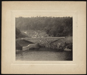 Wachusett Dam, highway Bridge, looking up waste channel, Clinton, Mass., 1905