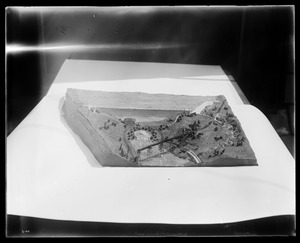 Wachusett Department, model of Wachusett Dam, made by Mary Frances Connolly (1903-1984), Water Division, Metropolitan District Commission, Clinton, Mass., 1930