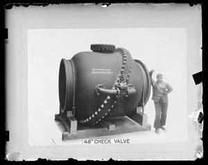 Distribution Department, 48-inch check valve, Mass., ca. 1900