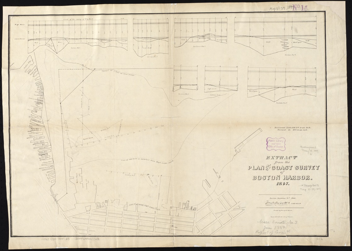 Extract from the plan of the coast survey of Boston Harbor, 1847