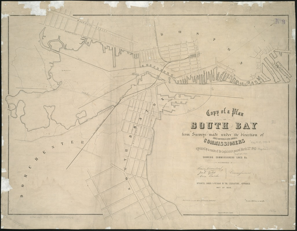 Copy of a plan of South Bay