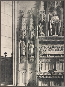 Detail of new reredos, Emmanuel Church, Boston, MA. Francis R. Allen, architect