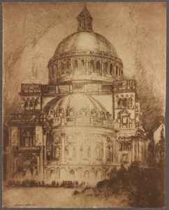 Christian Science Church, from etching by W. Harry Smith