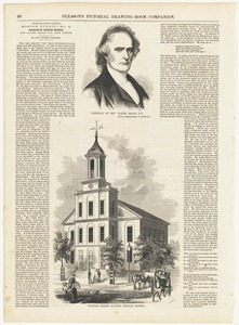 Portrait of Rev. Daniel Sharp, D. D. ; Charles Street Baptist Church, Boston