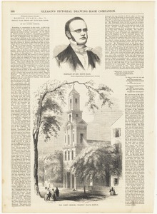 Portrait of Rev. Rufus Ellis ;  The First Church, Chauncy Place, Boston