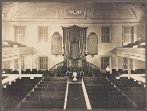 Boston, Massachusetts. Interior of Old Hollis St. Church