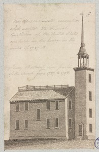 Boston, Massachusetts. View of the Presbyterian Meeting House formerly standing in Federal Street