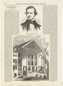 Portrait of Rev. Otis A. Skinner ;  Fifth Universalist Church, Warren Street, Boston