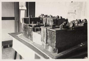 Boston Housing Assoc. model exhibit at the West End Library Branch