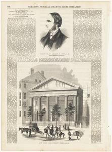 Portrait of Rev. Alexander H. Vinton, D. D. ; Saint Paul's Church, Tremont Streeet, Boston