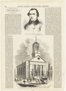 Portrait of Rev. Frederick D. Huntington ; South Congregational Church, corner of Washington and Castle Streets, Boston