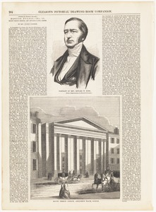 Portrait of Rev. Edward N. Kirk ; Mount Vernon Church, Ashburton Place, Boston