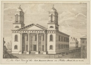 An east view of the New Meeting House in Hollis Street, Boston