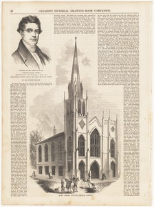 Portrait of Rev. Baron Stow, D. D. ; Rowe Street Church, Boston