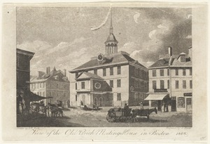 View of the Old Brick Meeting House in Boston, 1808