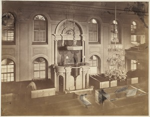 Interior of Old South before it was remodelled for post office