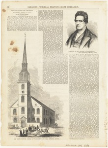 Portrait of Rev. George W. Blagden, D. D. ; Old South Church, corner of Washington and Milk Streets, Boston