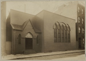 Boston, Massachusetts. Old church on Tyler St., now being used for gymnasium and baths