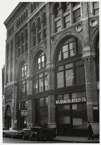 Angular view of the Shepley, Rutan, and Coolidge Ames store, #55-65 Bedford
