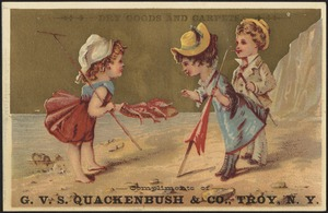 Dry goods and carpets, Compliments of G. V. S. Quackenbush & Co., Troy, N. Y.