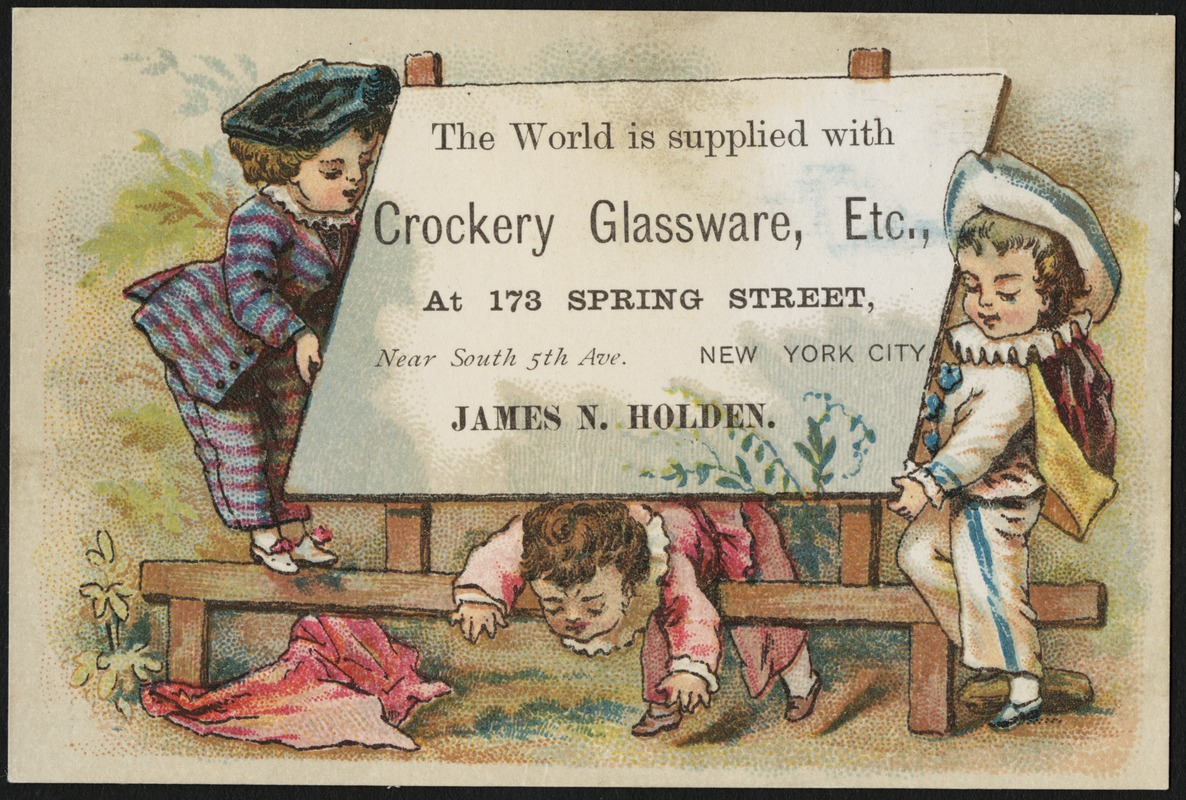 The world is supplied with crockery glassware etc at 173 spring the world is supplied with crockery glassware etc at 173 spring street near south 5th ave new york city james n holden publicscrutiny Gallery