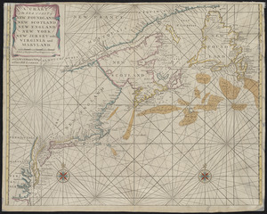 A chart of the sea coast of New Foundland, New Scotland, New England, New York, New Jersey, with Virginia and Maryland