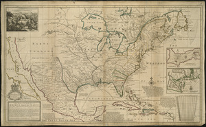 A new map of the north parts of America claimed by France under ye names of Louisiana, Mississipi, Canada, and New France with ye adjoining territories of England and Spain