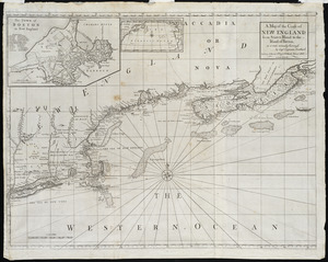 A map of the coast of New England, from Staten Island to the island of Breton