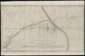 Hydrographical map of the Atlantic Ocean, extending from the southermost part of North America to Europe