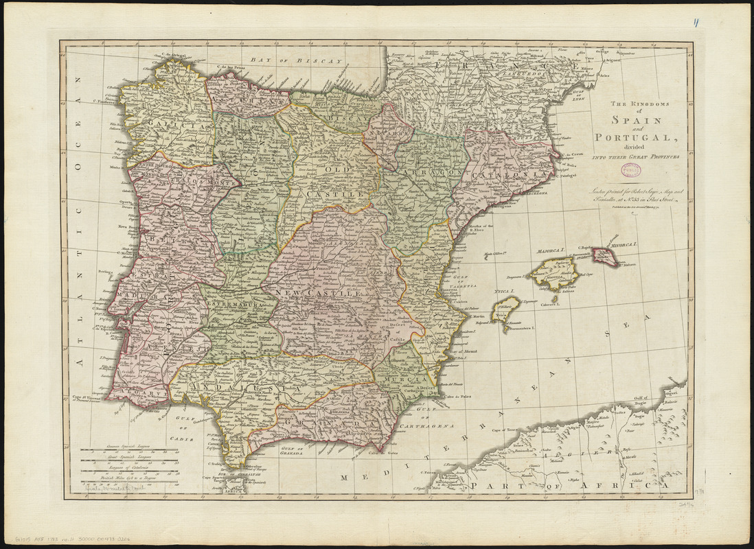 The kingdoms of Spain and Portugal, divided into their great provinces