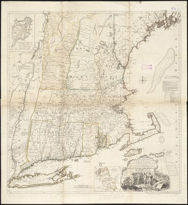 A map of the most inhabited part of New England