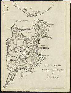 A new and correct plan of the town of Boston