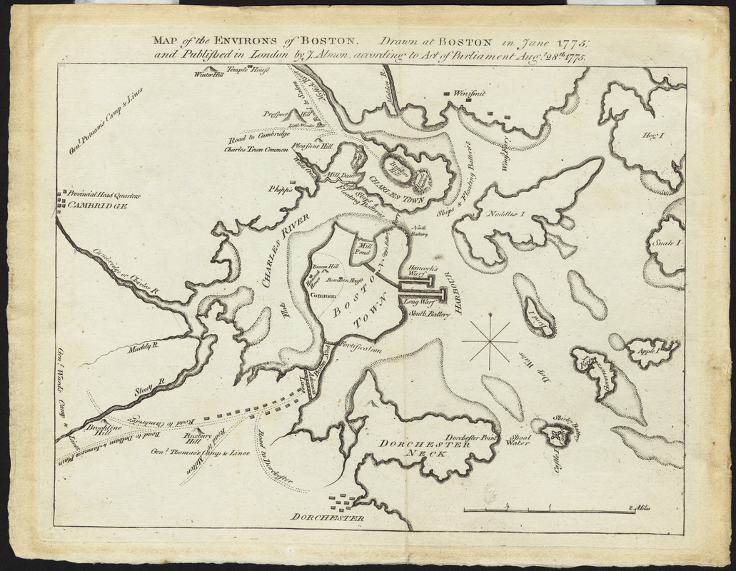 Map of the environs of Boston