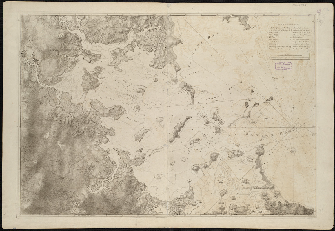 A chart of the harbour of Boston