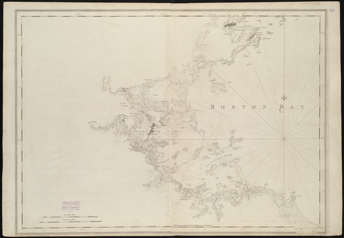 A chart of Boston Bay and vicinity