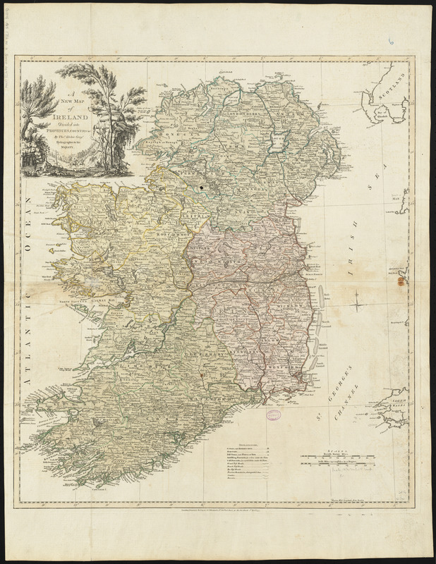 A new map of Ireland divided into provinces, counties, &c