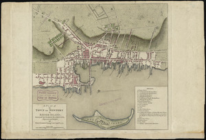A plan of the town of Newport in Rhode Island