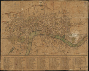 A new and accurate plan of London, Westminster and the Borough of Southwark, with all the additional streets, squares, &c