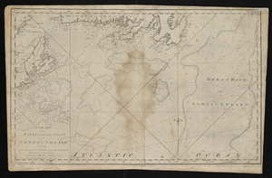 A chart of the banks and part of the coast of Newfoundland including the islands of Sable and Cape Breton