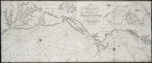 A new chart of America with the harbors of New York, Boston, &c