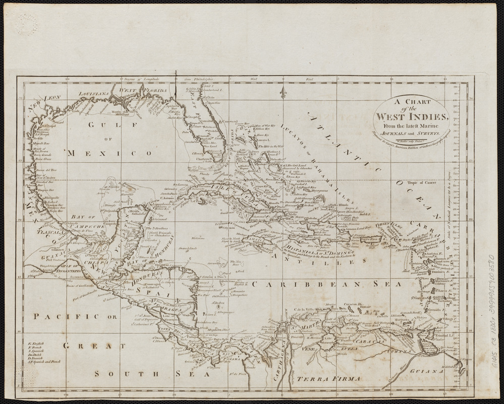 A chart of the West Indies, from the latest marine journals and surveys