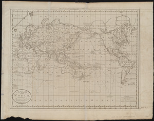 A chart of the world, according to Mercators projection, shewing the latest discoveries of Capt. Cook